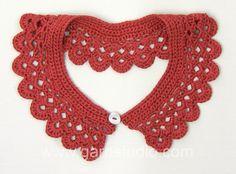 DROPS Crochet Tutorial: How to crochet  a collar