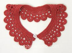 DROPS Crochet Tutorial: How to crochet  a collar