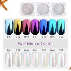 1g Nail Art Glitter Chrome Powder Decorations Mirror Nail Glitter Pigment Powder Gold Blue Purple Dust Manicure SAB01-07 #Sara Nail Salon #Nail Glitter #popular #november2017 #useful