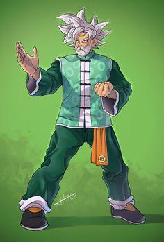 Grandpa Goku (I love the idea of Goku modeling himself after his Grandpa as he ages) Dragon Ball Z, Mortal Kombat, Hero Fighter, Goku Wallpaper, Dbz Characters, Epic Art, Son Goku, Fantasy Character Design, Cool Cartoons