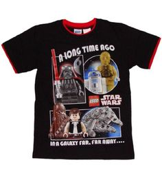Lego Star Wars Far Far Away Boys Tshirt XLarge 1820 Black >>> Want to know more, click on the image.