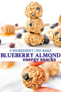 No Bake Blueberry Almond Energy Snacks are a healthy snack or breakfast to grab and go!These No Bake Blueberry Almond Energy Snacks are a healthy snack or breakfast to grab and go! Healthy Vegan Snacks, Nutritious Snacks, Easy Snacks, Healthy Zucchini, Kid Snacks, Healthy Recipes, Easy Recipes, Couscous Healthy, Gourmet Recipes