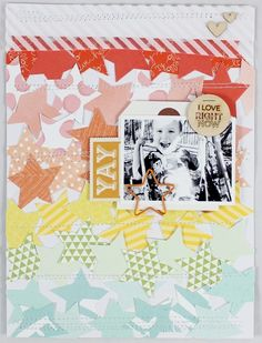 Yay by emma_kw at Studio Calico Scrapbook Paper Crafts, Scrapbook Pages, Scrapbooking, Studio Calico, Project Life, Stripes, Gallery, Layouts, Projects