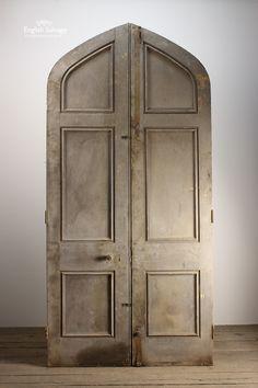Reclaimed Period Oak Plank Double Arch Doors