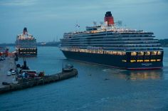 Queen Victoria and Queen Elizabeth ~ Queen Mary 2 10th Anniversary Celebration Photo Tour | Popular Cruising (Image Copyright © Jason Leppert)