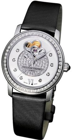 Shop for Frederique Constant Double Heart Beat Ladies Watch Get free delivery On EVERYTHING* Overstock - Your Online Watches Store! Army Watches, Cool Watches, Watches For Men, Frederique, Mechanical Watch, Mother Pearl, Digital Watch, In A Heartbeat, Stainless Steel Case