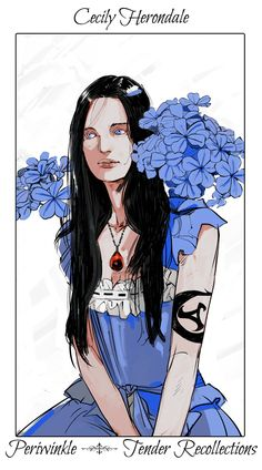 Cecily Herondale, Will's sister. Flower series by Cassandra Jean