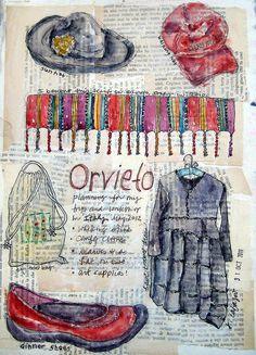 from my sketchbook  preparing for my workshop in Italy