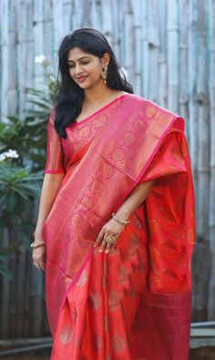 Pure mysore silk saree with allover kanchi zari / pink saree / designer saree/ saree for women / ind