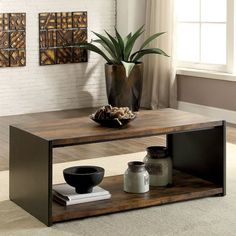 17 Stories Bourget Transitional Coffee Table | Wayfair