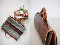 Full Give (Etsy) - knife roll Leather, canvas, hardware $??? Features: fold-up, snap closure and easy to grab handles