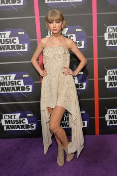 Taylor Swift Photos Photos - Taylor Swift attends the 2013 CMT Music awards at the Bridgestone Arena on June 5, 2013 in Nashville, Tennessee. - Arrivals at the CMT Music Awards