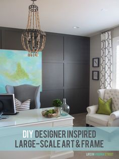 302 best DIY Art  Mirrors    Wall Decor images on Pinterest in 2018     DIY Designer Inspired Art and Frame   Life On Virginia Street