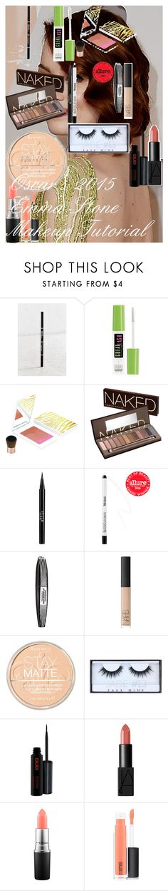 """""""Oscar's 2015 ♥ Emma Stone Makeup Tutorial"""" by oroartye-1 on Polyvore featuring beauty, Anastasia Beverly Hills, Maybelline, Sisley, Urban Decay, Stila, MAKE UP FOR EVER, L'Oréal Paris, NARS Cosmetics and Rimmel"""