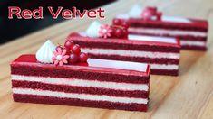 Banana Dessert Recipes, Cake Recipes, Red Velvet Cake Rezept, Fruit Birthday Cake, French Apple Cake, Almond Cookies, Brownie Cake, Pastry Cake, Tea Cakes