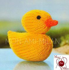 ALAN DART Knitting Pattern CUTE LITTLE YELLOW DUCK DUCKLING Soft Knit Toy - DK Craft Patterns, Knitting Patterns, Alan Dart, Modern Crafts, Easter Gift, Yellow, Toys, Cute, Gifts