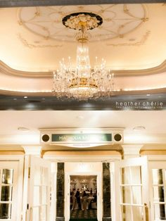 Magnolia ballroom details with #chandelier and #magnolia medallion at Gaylord opryland resort. Photo credit: Heather Cherie Photography