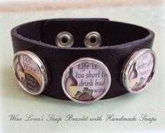 Wine Lover Bracelet Gift for Wine Lovers Best by HopeisHipJewelry