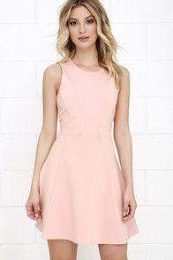 Black Swan Liana Peach Dress at Lulus.com!