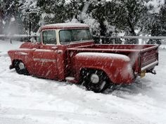 Low and Snow Chevy Truck