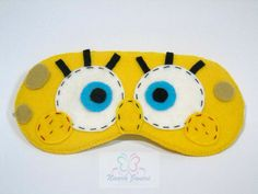 Spongebob Squarepants mask/Máscara Bob Esponja in felt by Naara Janeri - Artes em Tecidos [Cute as a Button]  www.facebook.com/naarajaneritecidos