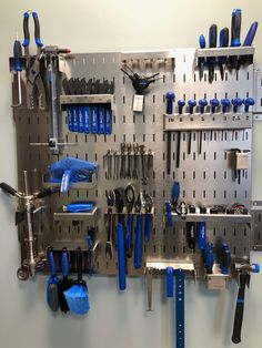 Park Tool Bicycle Tool Organizer - includes the Tools! Pegboard tool storage made perfect. Park Tool Bicycle Tool Organizer - includes the Tools! Pegboard tool storage made perfect. Pegboard Garage, Pegboard Organization, Diy Garage Storage, Workshop Organization, Garage Tools, Garage Workshop, Workshop Ideas, Storage Ideas, Organization Ideas