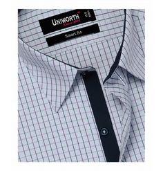 Light Grey With Multi Check Shirt