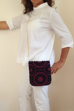 Fabric Clutch bags / Black Clutch Purse / by vquadroitaly on Etsy
