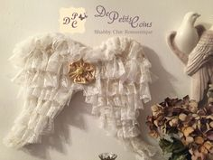 Ali shabby in pizzo fatte a mano - shabby lace wings handmade