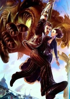 Yes, I still enjoy Bioshock: Infinite artwork when there are no Lutece twins involved.