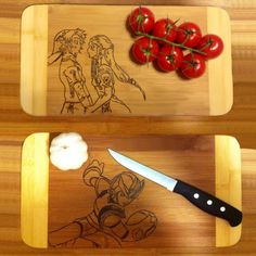 Get your favorite characters sketched into a usable kitchen cutting board. Can pick from any of the designs or be creative and have a custom design made just for you!