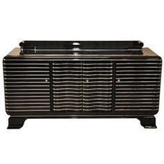 Art Deco Chrome Liner Sideboard from New York