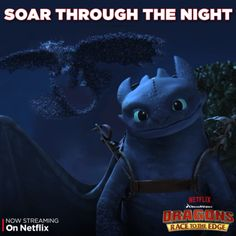 """Dragon's Edge resident dragons are joining the dragon riders on their newest adventures! Soar through the night with the Night Terrors in """"Reign of Fireworms"""" on Netflix."""