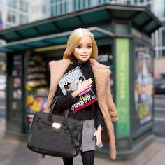 "Barbie® on Instagram: ""Couldn't resist reading the issue myself, but we're definitely just friends!  #barbiezoolander #zoolander2 #barbie #barbiestyle"""