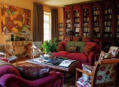 Bunny Williams - library in France