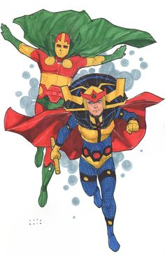 Mister Miracle and Big Barda by Phil Noto