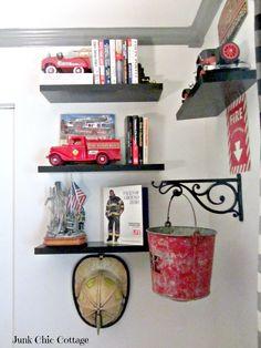 Junk Chic Cottage: Fireman Room Junk Chic Cottage!