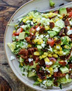 Chopped Salad with Corn, Feta & Avocado