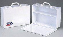 2 Shelf- industrial cabinet- empty metal case w/ swing down door- 14-3/ – SK Tack & Supply