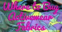 Where to buy activewear fabric