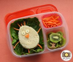 Chick sandwich - love this site, she makes adorable, but fairly quick and easy kid lunches.