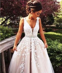 New Arrival Prom Dress,Pretty A-line lace long prom