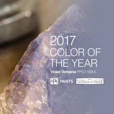 2017 Paint Color of the Year, Violet Verbena is inspired by a gray amethyst stone.