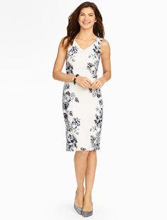 Talbots - Candlelight Rose Sheath Dress | New Arrivals |