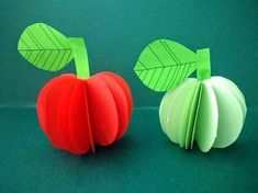 DIY Paper Flower - How to make a Flower with paper: Origami flower 3d Paper Crafts, Diy Paper, Arts And Crafts, Fruits For Kids, Fall Fruits, Paper Fruit, Fruit Crafts, Mothers Day Crafts, Holiday Crafts
