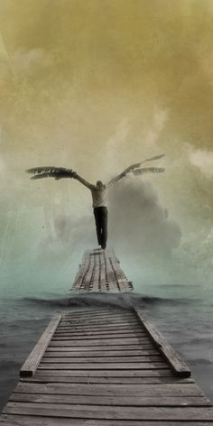 ♂ Dream Imagination Surrealism Surreal arts - Flying man