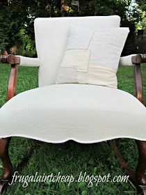 I have to admit,  I can sew slipcovers, and I have in the past, but it is a time consuming job (for me).   That said, I did wanted to chan...