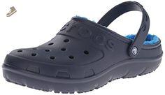 crocs Unisex Hilo Lined Clog Mule, Navy/Ocean, 6 B(M) Women/4 D(M) Men US - Crocs mules and clogs for women (*Amazon Partner-Link)