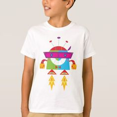 Shop Robot 16 Illustration T-Shirt created by JunkyDotCom. Personalize it with photos & text or purchase as is! Colorful Birthday Party, Kids Birthday Party Invitations, Robots For Kids, Space Party, Cool Cartoons, Childrens Party, Cool Kids, Colorful Shirts, Shirt Style
