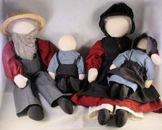 Amish doll family